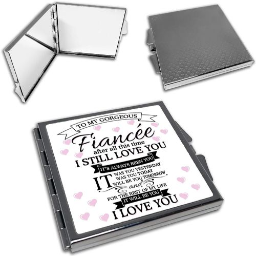 To My Gorgeous Fiancee Cute Square Compact Mirror